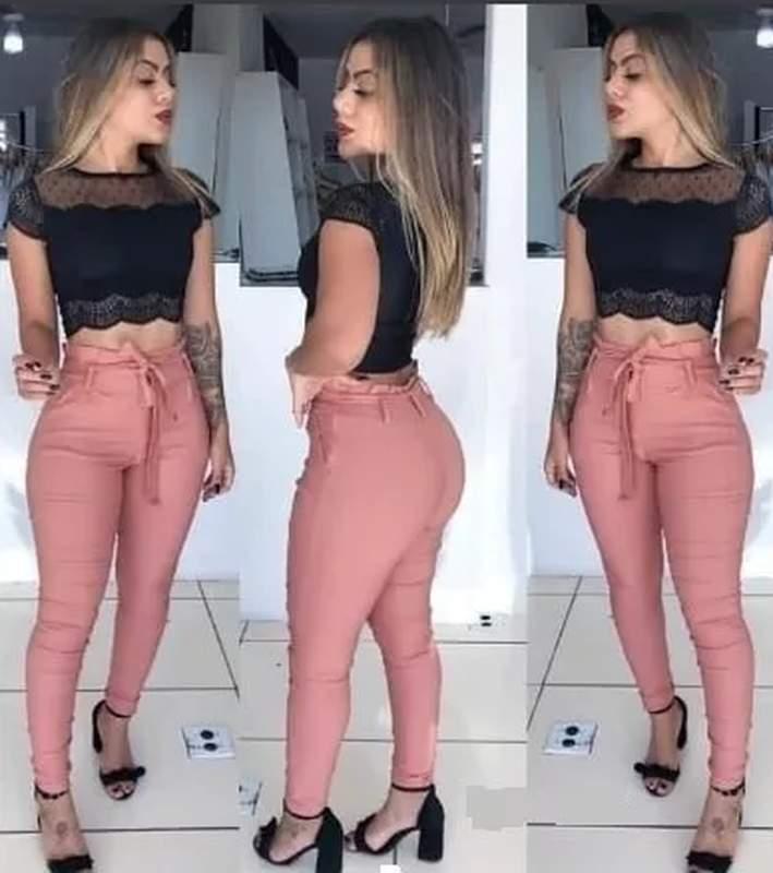 ff7895125ed00d Calça feminina justa cintura alta tecido bengaline - R$ 78.20 | SHAFA - O  melhor da moda feminina