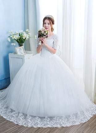 Vestido de casamento noiva dreams princess longo debutante