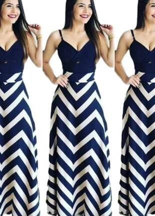 Saia longa cintura alta listrada zig zag moda blogueiras
