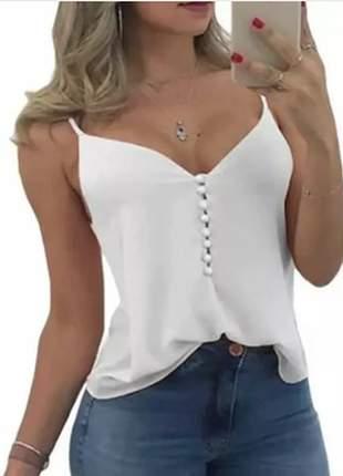 Blusa blusinha alcinha alça básica soltinha