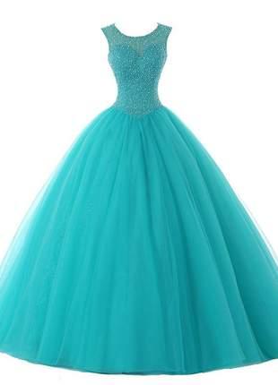 Vestido de debutante cindy baile 15 anos formatura festas tiffany