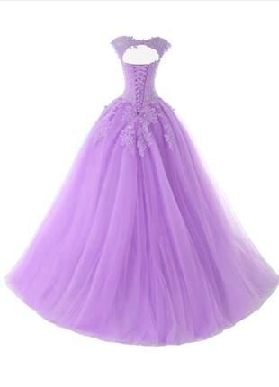 Vestido de debutante princesa carol 15 anos formatura madrinha festas baile