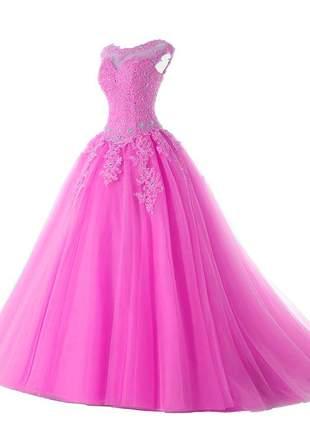 Vestido debutante estilo princess 15 anos baile formatura madrinha festa eventos