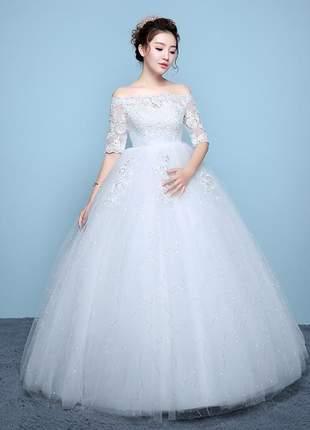 Vestido de casamento princess gestante ou não gestante noiva longo