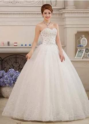 Vestido de noiva romântico casamento tcm debutante princesa