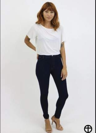 Calça jeans skinny - hot pants carbono - lady rock - 9301b