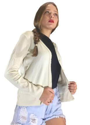Casaquinho corta vento de botao jaquetinha de trico