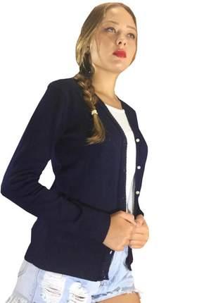 Terninho de tricot jaquetinha feminina de inverno