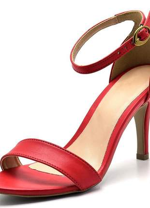 0657ce577 Sandália feminina social salto alto fino rosa bebe laços - R$ 114.90 ...