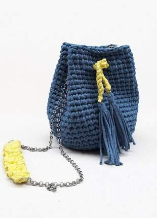 Bolsa de crochê fio de malha