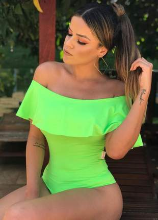 Body neon zigma ciganinha blusa bore ultima moda