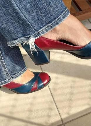 Sapato feminino boneca de couro dali shoes