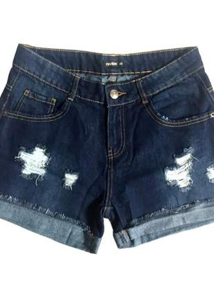 Short jeans feminino destroyed