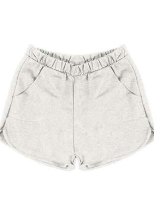 Short feminino moletom premium leve e muito confortável