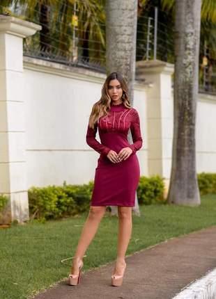 d95786532f Vestido cor marsala - compre online