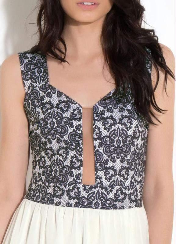 e92d023db Vestido festa social preto off white tule - R$ 149.99 (de renda ...