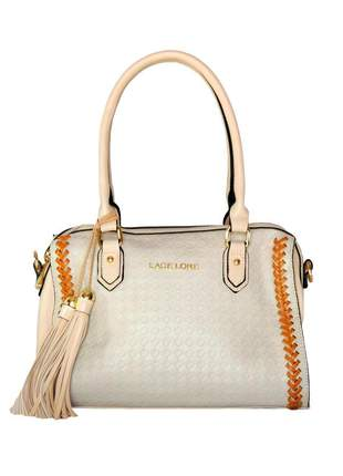 Bolsa infinity shoes by lace lore satchel creme