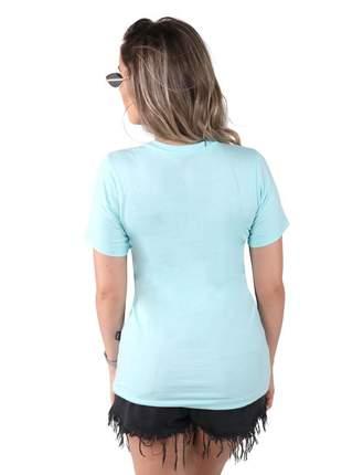 Camiseta thank you azul com neon