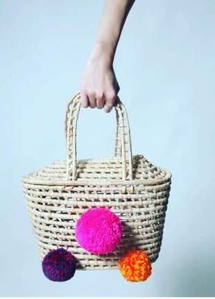 Bolsa de palha customizada