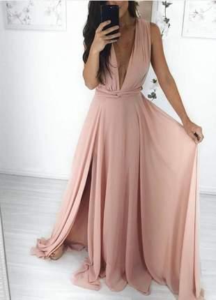 Vestido de festa longo madrinha de casamento