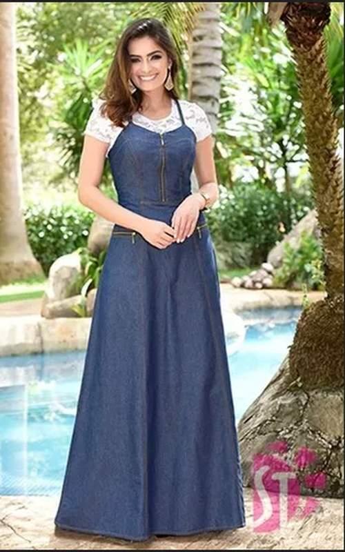 Vestido Jeans Longo Acompanha Blusa Roupas Evangelicas R 29900 Shafa O Melhor Da Moda Feminina
