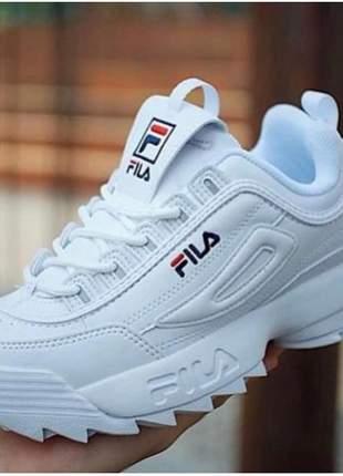 def14086cb0ce Tênis fila disruptor branco feminino - R$ 129.90 (esportivos, de ...