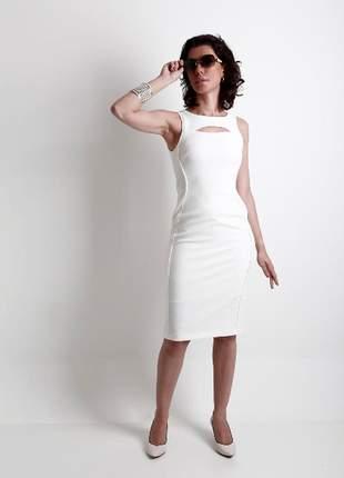 Vestido midi offwhite