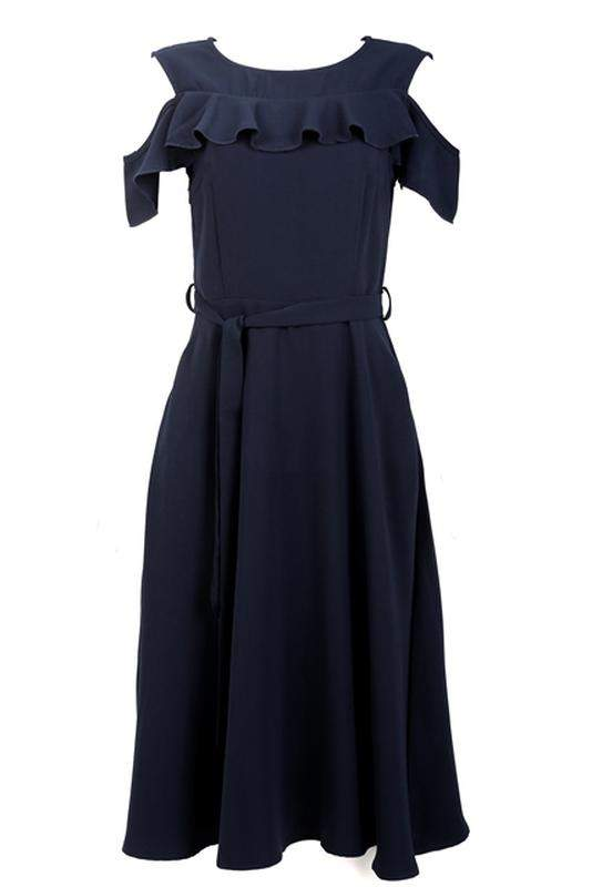 e-dress / Vestido midi azul marinho