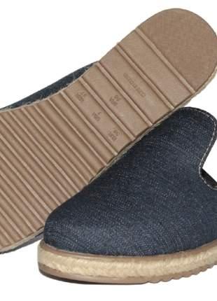 Tamanco feminino estilo mule jeans sola corda