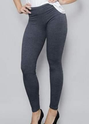 Legging cotton p m g gg preto azul cinza leg calça moda