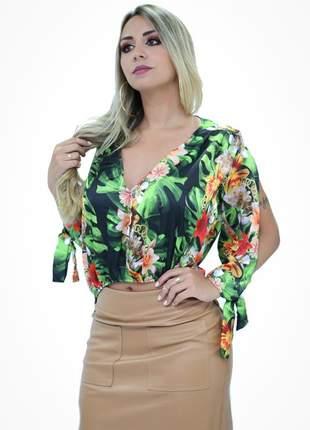 Blusa karen special estampa floral