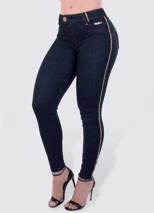 Calça cigarrete jeans escuro