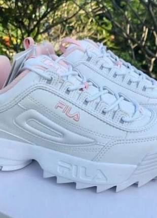 3904598f3800e Tênis fila disruptor 2 branco rosa - R$ 129.90 (esportivos, de ...