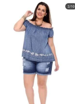Blusa feminina ciganinha tomara que caia elástico plus size