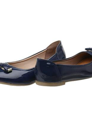 Sapatilha feminina bw verniz azul ref 007