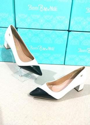 Sapato scarpin salto bloco