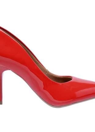 Sapato social feminino scarpin vermelho salto medio fino