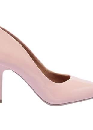 Sapato social feminino scarpins rosa salto medio fino