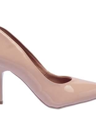 Sapato social feminino scarpins nude salto medio fino