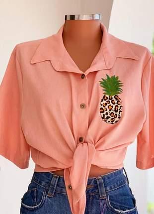 Blusa linho abacaxi