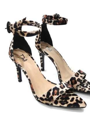 Sandalia feminina salto fino oncinha dali shoes