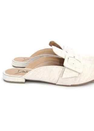 Sapatilha feminina mule com fivela dali shoes