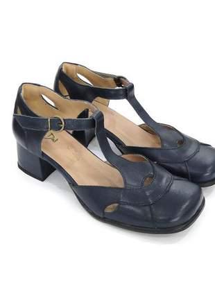 1b110e5573 Sapato feminino boneca de couro azul marinho dali shoes