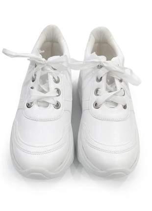 Tenis feminino chunky sneaker branco dali shoes