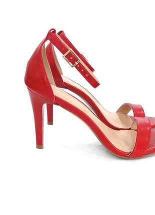 6bf17defa Sandalia feminina salto fino vermelha dali shoes - R$ 79.00 (de ...
