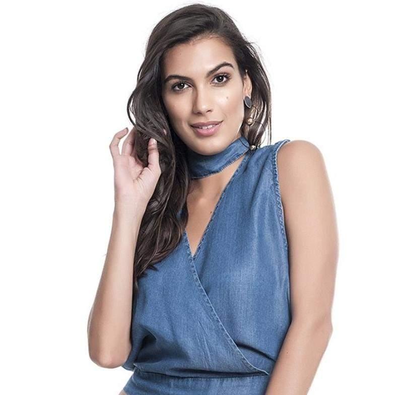 d1945e1d14 Blusa feminina jeans blusinha feminina verão 2019 decote - R  110.00 ...