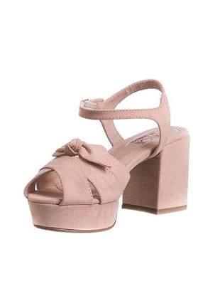 Sandália meia pata nude lacinho - 7658.17003