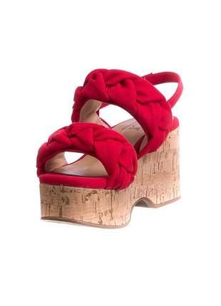Sandália plataforma rústica vermelha - 334.4180
