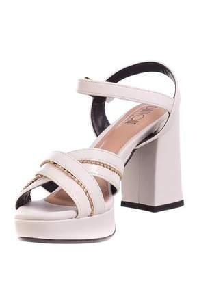 Sandália meia pata off-white - 314-1691