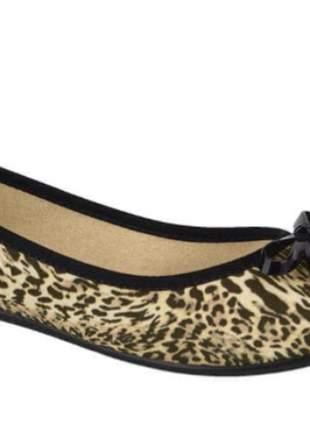 Sapatilha moleca  tecido jaguar multi bege  5314.506